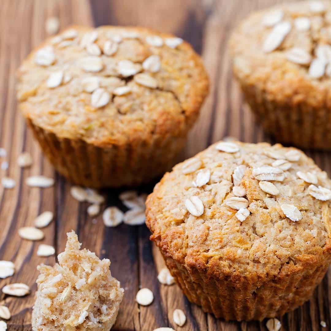 Muffins de avena y plátano - IND - Nutrición Deportiva